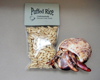 Hermit Crab Food Puffed Rice pet food, all natural hermit crab pet treat 100% whole grain pet food snack