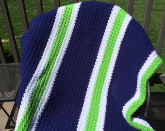 Crochet Sport Stripe Throw