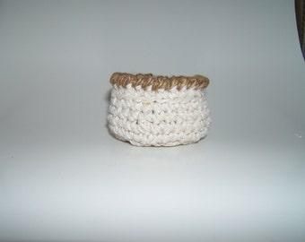 Crochet String Jute Bowl