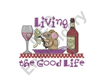 Mouse - Machine Embroidery Design, Restaurant, The Good Life