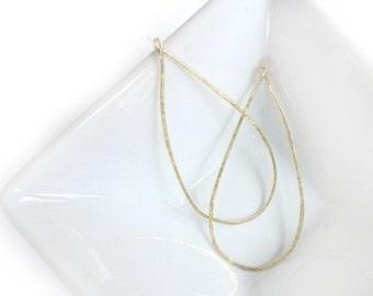 14K Gold Fill Earrings, Hoop Earrings, Wire Earrings, Large Teardrop Earrings, Minimalist Jewelry, Gold Jewelry, Gold Hoops, By Durango Rose