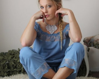 organic cotton chemise sleepwear shirt - SORBET hand dyed lingerie - made to order