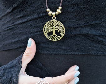 Sacred Geometry Tree of Life Necklace / Tree of Life Mandala Pendant / Sacred Geometry Jewelry / Necklace With Meaning // Yoga Necklace