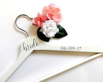 Bride Wedding Dress Hanger - Bridal Hanger, Custom Hanger
