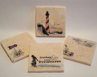 Beachy Coasters - set of 4