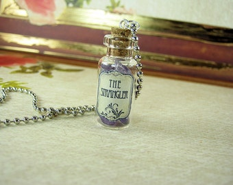 GAME OF THRONES The Strangler Glass Bottle Necklace Charm - Cork Vial Pendant - Song of Ice & Fire Poison