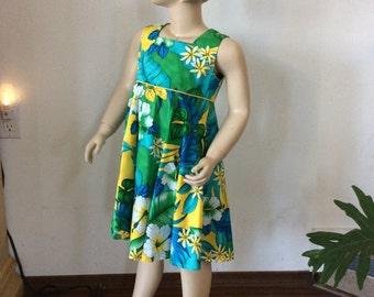 Hawaiian Print Girls Dress