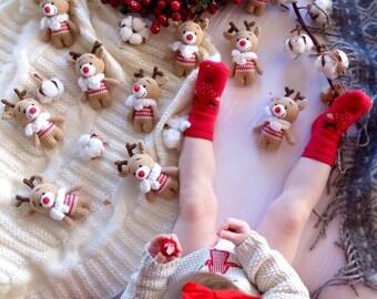 Sale! Crochet pattern of cute deer, Amigurumi Pattern, Christmas Crochet pattern, INSTANT DOWNLOAD, PDF file in english