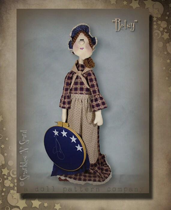 "Pattern: Betsy - 36"" Standing Americana Lady - Betsy Ross"