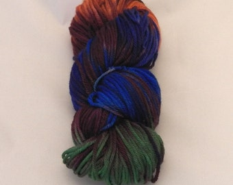 Vivid Venetian- Merino Worsted Weight Yarn- Hand Dyed- OOAK- 0025