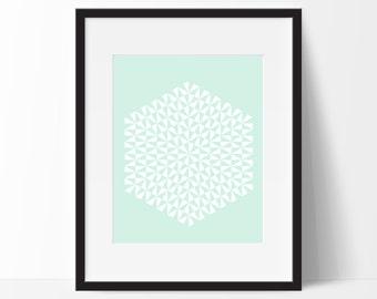 Geometric Print Art, Geometric Art, Geometric Printable, Digital Art Print, Geometric Print, Instant Download, Modern, Green