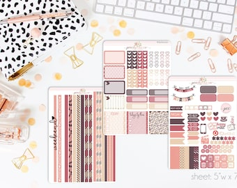Autumn Tones HORIZONTAL Weekly Kit // 130+ Matte Planner Stickers // Perfect for your Erin Condren Life Planner // WKH0010