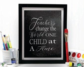 TEACHER GIFT, teacher gifts, teacher prints, gift for teacher, christmas gift, teacher appreciation, chalkboard print, gift ideas