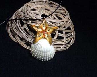 Beachcomber starfish pendant