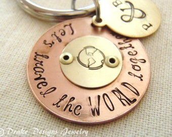 personalized travel gifts for travelers wedding gift for groom from bride or for bride from groom let's travel the world together