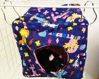 READY TO SHIP My Little Pony Cube Hammock Ratmock for small animals rat hammock sugar glider hammock pet hammock cute cube hammock cube