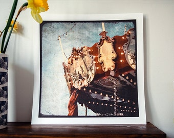 The carousel - reindeer - 30x30cm - signed and numbered print