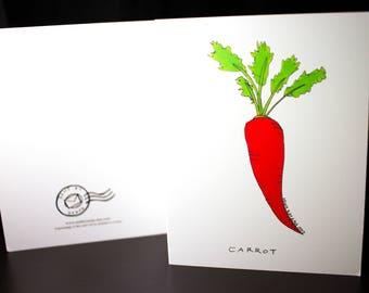 "5.5""x4"" Carrot Greeting Card"