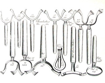 18th - 19th Century Tools - Cheese Taster, Bed Keys, Shifting Sockets - 1993 Vintage Book Page - 9.5 x 7.5