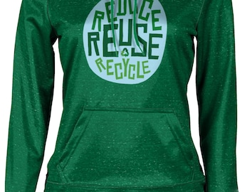ProSphere Women's Recycle Reduce and Reuse Causes Heather Pullover Hoodie