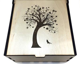 Essential Oil Storage Box, 25 Slot, Tree of Life, Aromatherapy Storage Box, Essential Oil Case, Aromatherapy Oil Organizer, Oil Display