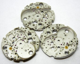 Vintage Watch Movements Silver Steampunk Watch Blanks Parts for Pendants