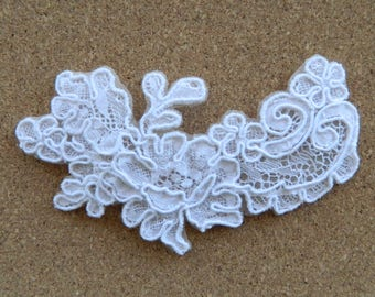Bridal Floral Lace Hairpiece   Handmade