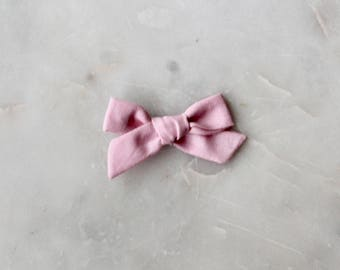 Hand tied Bow in Pink