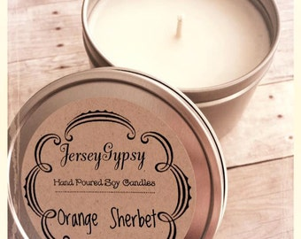 8 oz. Orange Sherbet Soy Candle