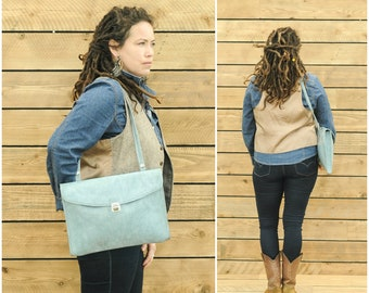vegan backpack vegan leather small crossbody bag vegan purse vegan bag blue messenger bag women vegan leather bag vegan crossbody bag laptop