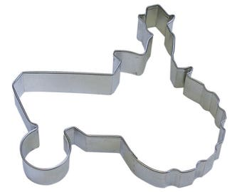"""Tractor Cookie Cutter,  Man on tractor, 5"""" farm cookie cutter,"""