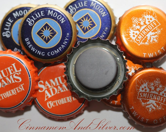 Beer Lover Bottle Cap Magnets Set of 3, Recycled Beer Bottle Cap Magnets, Beer Magnet Gift, Man Cave Gift, Home Bar Decor