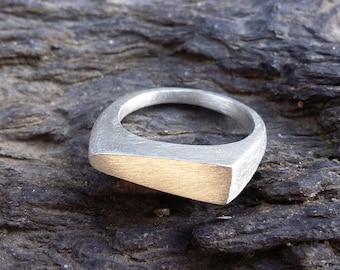 Silver asymmetrical ring