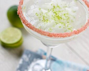 Pink Margarita Salt Rim – Blush Pink Salt Ideal for a Girl Baby Shower Drinks or Blush Wedding Cocktails