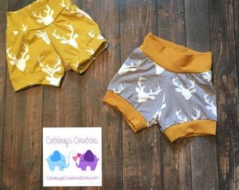 SPRING SALE!! Buckhead bummies, buck print, children's shorts, cuff shorts