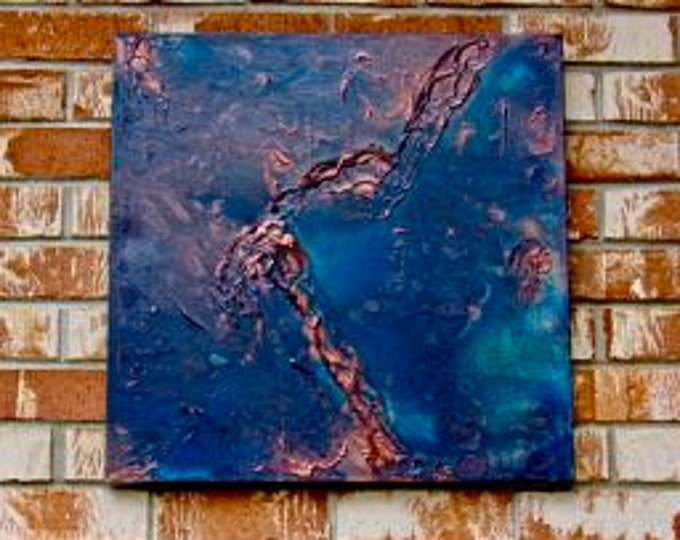 """Abstract Painting """"View from Above~From Afar"""""""