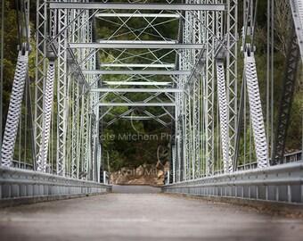 Digital backdrop of steel bridge