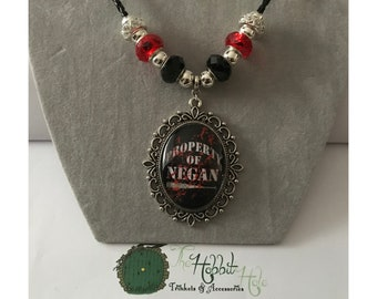 Handmade The Walking Dead Negan Inspired Necklace