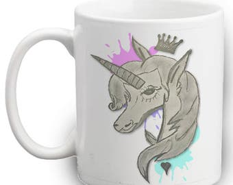 Unicorn Mug - Hand Drawn - Cool - Unique