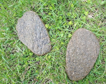 2pcs 100% Natural Sea Beach Stones Rocks Flat Shaped