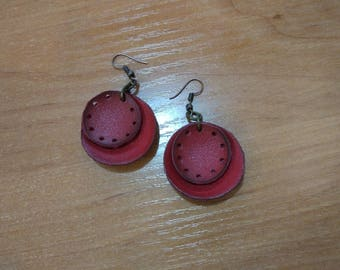 Earrings red circles