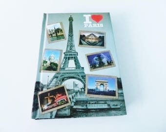 notebook note book I love Paris Montmartre Eiffel Tower Mill Red 10.5 x 15.5 cm