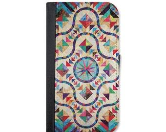 Faux Quilt Wallet Case. Choose Samsung Galaxy S4, S5, S6, S6 Edge, S7, S7 Edge, S8 or S8 Plus.