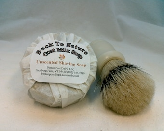 Shaving Soap made with goat's milk, unscented