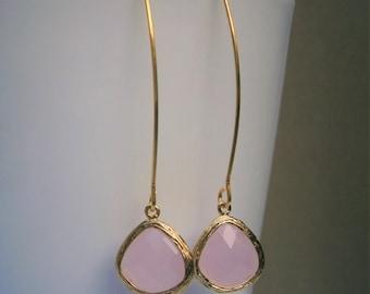 Pink Earrings, Gold Earrings, Wife, Best Friend, Mom, Sister, Bridesmaid, Girlfriend, Mother, Daughter