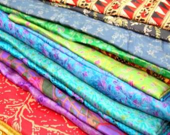 Sari Silk Fabric, Silk Sari Fabric for Silk Saree Ribbon or Upcycling 10kg For Nuno Felting, or Events , Weddings , Parties