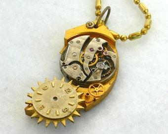 Steampunk Necklace --Vintage Watch Movement  SN315