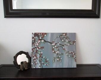 Acrylic Painting on Canvas, Autumn Bloom, landscape Painting, Canvas painting, Painting, home decor, indoor decor, wall art, Handmade