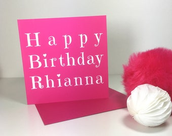 Typographical Personalised Birthday Card with Heart Detail - GC025