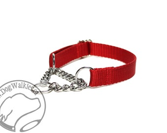 "Mix and Match Chain Martingale Dog Collars - 3/4"" (19mm) Wide - Your Choice: Color and Size"